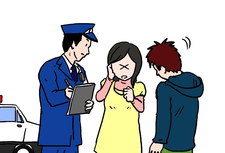 事故発生時には必ず警察に!