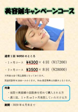 6月美容鍼キャンペーン